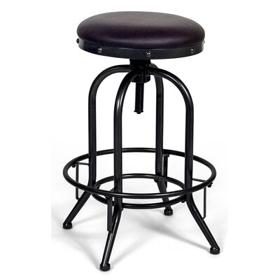 Halie Adjustable Backless Height Swivel Bar Stool