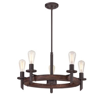 Redvale 5-Light Shaded Chandelier