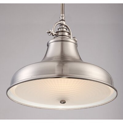 Eden 1-Light Mini Pendant Finish: Palladian Bronze, Size: Large