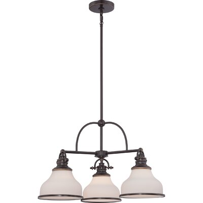 Attles 3-Light Bowl Pendant Finish: Palladian Bronze