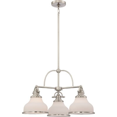 Attles 3-Light Bowl Pendant Finish: Brushed Nickel