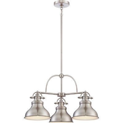 Cetona 3-Light Kitchen Island Pendant Finish: Brushed Nickel