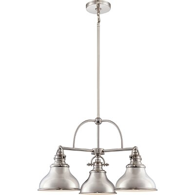 Lumley 3-Light Steel Kitchen Island Pendant Finish: Imperial Silver