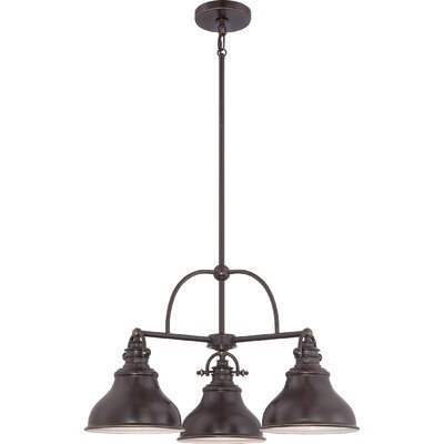 Lumley 3-Light Steel Kitchen Island Pendant Finish: Palladian Bronze