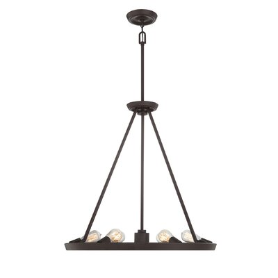 Mace 6-Light Candle-Style Chandelier Finish: Western Bronze