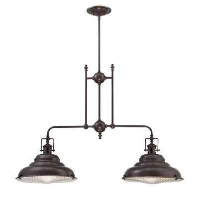 Brushton 2-Light Kitchen Pendant Light