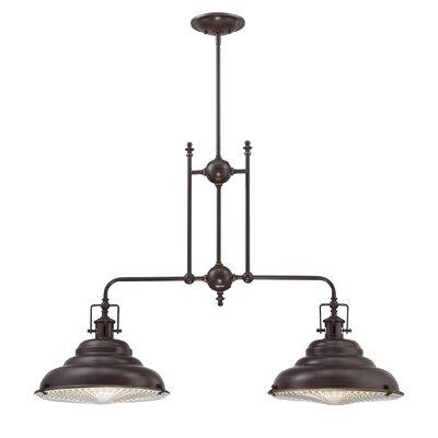Brushton 2-Light Kitchen Pendant Light