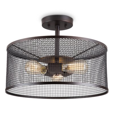 Reede 3-Light Semi-Flush Mount