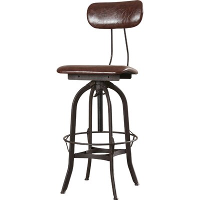 Manoel Adjustable Height Swivel Bar Stool
