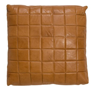 Savanah Leather Square Pillow
