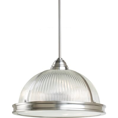 Palisade 3-Light Bowl Pendant Finish: Brushed Nickel, Bulb Type: 13 W Self Ballasted PLS13 GU24