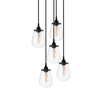 Lamson 5-Light Cascade Pendant