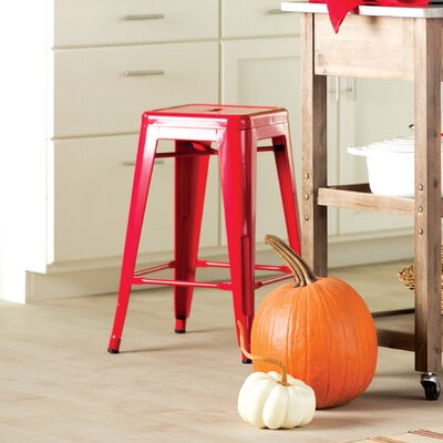 Delavan 24 Bar Stool Finish: Red