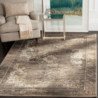 Deridder Brown Area Rug Rug Size: Rectangle 53 x 76