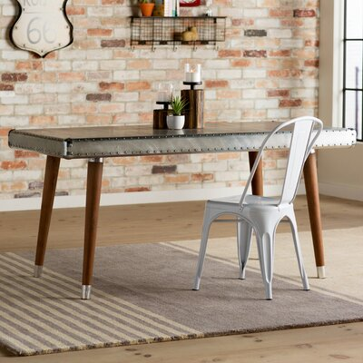 Hanford Aluminum Top Dining Table