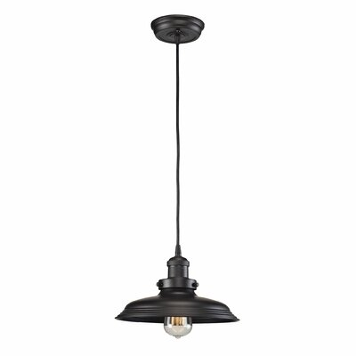 Waite 1-Light Mini Pendant Finish: Oil Rubbed Bronze