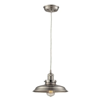 Waite 1-Light Mini Pendant Finish: Satin Nickel