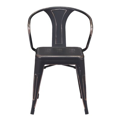 Carmel Side Chair Finish: Antique Black Gold