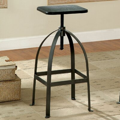 Menik Backless Adjustable Height Swivel Bar Stool Finish: Dark Brown