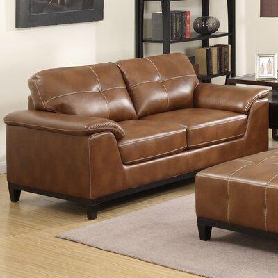 Van Reipen Standard Loveseat Upholstery: Chestnut