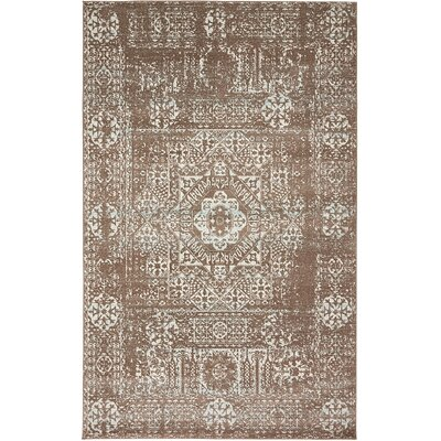 Cole Light Brown Area Rug Rug Size: 5 x 8