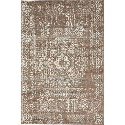 Cole Light Brown Area Rug Rug Size: 4 x 6