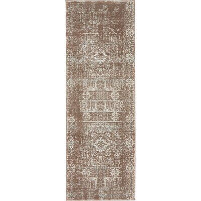 Cole Light Brown Area Rug Rug Size: Runner 22 x 6