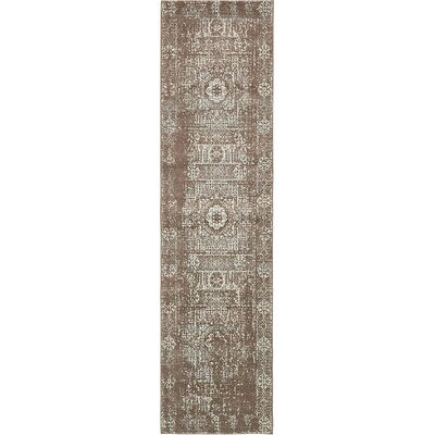 Cole Light Brown Area Rug Rug Size: Runner 27 x 10