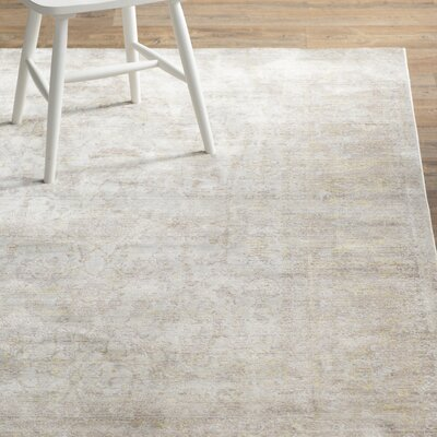 Deeringhill Gray Area Rug Rug Size: Rectangle 6 x 9