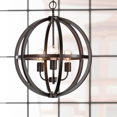 Irwin Globe Pendant Size: 3 Light