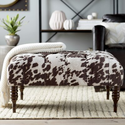 Jaden Tufted Cocktail Ottoman Color: Dark Brown