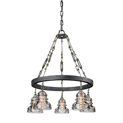 Augustina 5-Light Shaded Chandelier