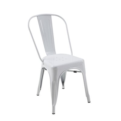 Alta Mesa Side Chair (Set of 4) Finish: White