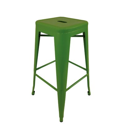 Lemoore 30 Bar Stool (Set of 4) Upholstery: Green
