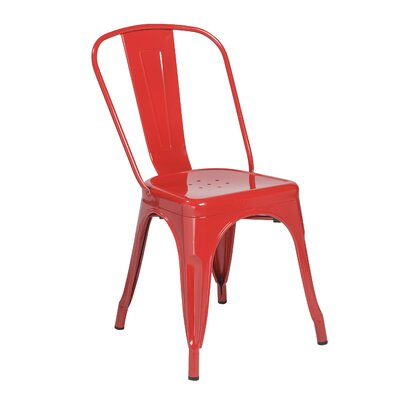Torrance Side Chair (Set of 4) Finish: Red