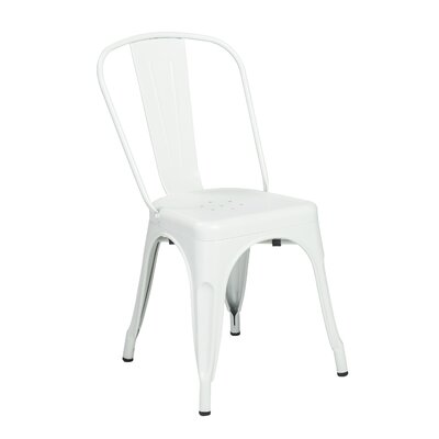 Torrance Side Chair (Set of 4) Finish: Matte White
