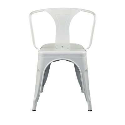 Torrance Arm Chair (Set of 4) Finish: White