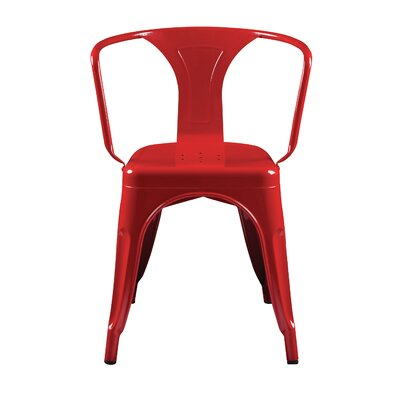 Torrance Arm Chair (Set of 4) Finish: Red