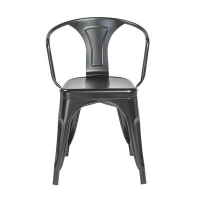Torrance Arm Chair (Set of 4) Finish: Matte Black
