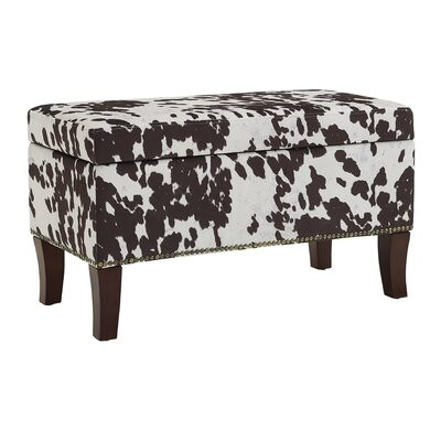 Adelynn Udder Madness Palomino Ottoman Upholstery: Brown