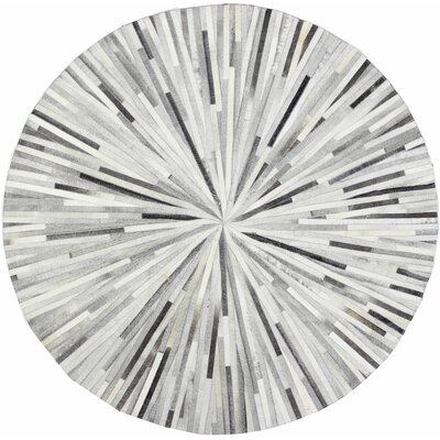 Sedalia Handmade Grey Area Rug Rug Size: Round 6