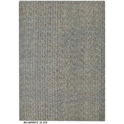 Alaina Hand- Knotted Slate Area Rug Rug Size: Square 16