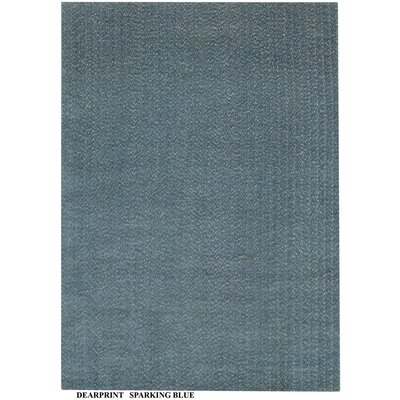 Alaina Hand-Knotted Blue Area Rug