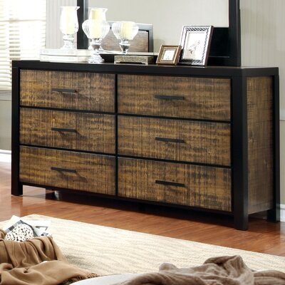 Topher 6 Drawer Double Dresser