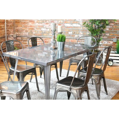Marie Dining Table Finish: Silver
