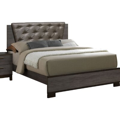 Mars Upholstered Panel Bed Size: California King