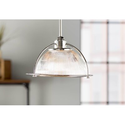 Brickford 1-Light Bowl Pendant Finish: Polished Nickel