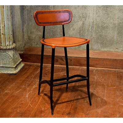 Fortunata 26 Bar Stool Upholstery: Apricot