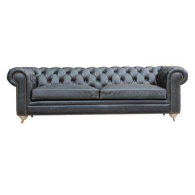 Alek Chesterfield Sofa Color: Ebony