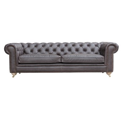 Alek Chesterfield Sofa Color: Walnut